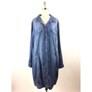 Jessica Simpson 2X Dress Chambray Long Sleeve